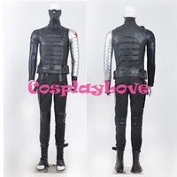 New Custom Made American Movie Captain America The Winter Soldier Winter Soldier Cosplay Costume High Quality
