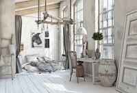 Laeacco старый серый белый сельский дом мебель ребенок простой Декор интерьера Фото фоны фонов фотосессия Фотостудия