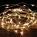 DC12V 10M 33Ft 100 Led warm white Copper Wire Fairy Starry Wedding Party Romantic String Light Christmas Xmas garland decor lamp