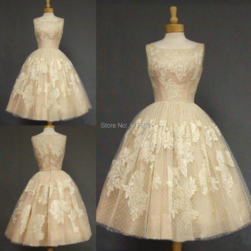 Popular Champagne Colored Vintage Lace Wedding Dresses Buy Cheap Champagne Colored Vintage Lace