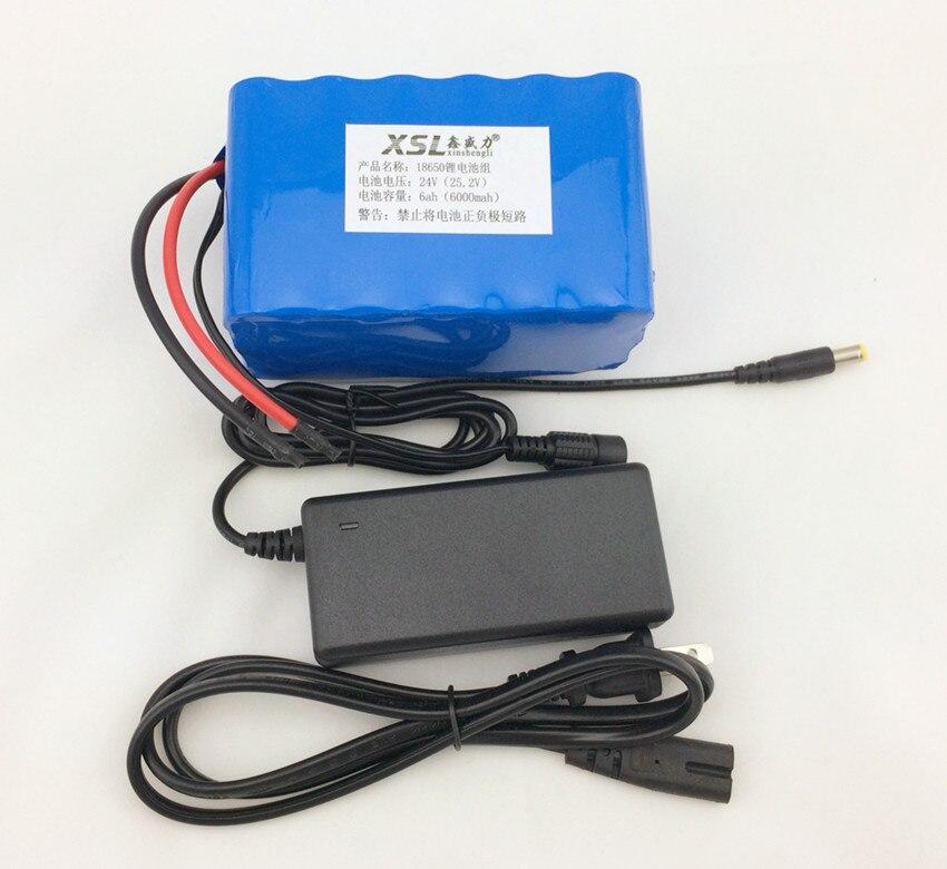 24 V 6Ah 6S3P 18650 au lithium batterie 6000 mah 25.2 V électrique pédale/vélo électrique/+ correspondant chargeur 24 V (25.5 V)