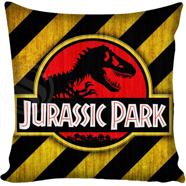 Brand-new Customized Pillow Cover Jurassic Park Logo Decorative Pillowcase  RU33