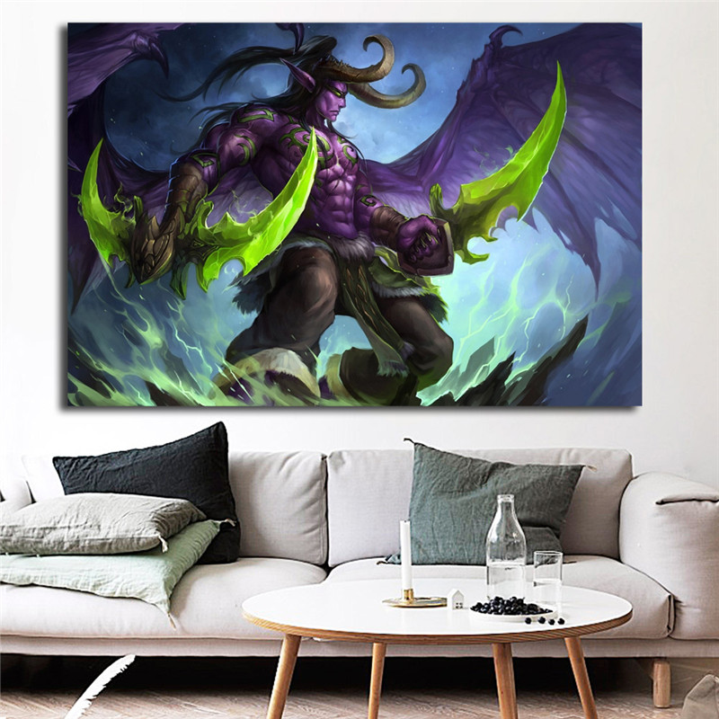World Of Warcrafts HD Terrorblade Battlegear Wall Art Canvas Posters Prints Oil Painting Pictures For Bedroom Home Decor