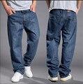 2016 vendas de Moda mens jeans baggy hiphop retro Velho schoold jeans denim jeans soltas calças plus size 44 46 48