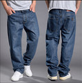 2016 venta de Moda para hombre pantalones vaqueros holgados hiphop retro Viejo schoold jeans de mezclilla pantalones vaqueros flojos pantalones más el tamaño 44 46 48