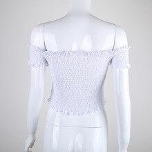 Fashion Chic off shoulder white t-shirt for women