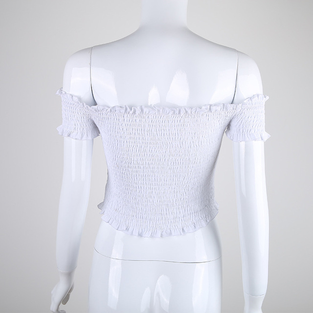 Fashion Chic off shoulder white t-shirt for women