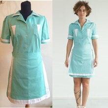 Twin peaks filme cosplay costume adult maid dress custom made