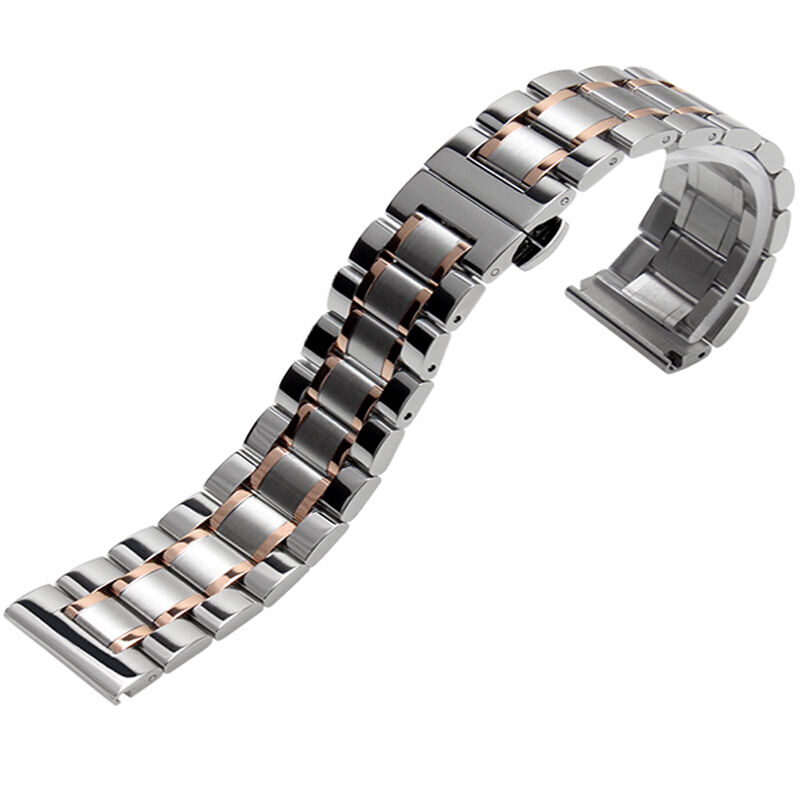 NESUN GD4 Stainless Steel Bracelet Watch Band Strap Straight End Solid Links For Armani/Casio/Longines Master Wrist Watches casio gd 400 4