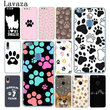 Lavaza dog footprint Paw Husky Hard Case for Huawei P30 P20 Pro P9 P10 Plus P8