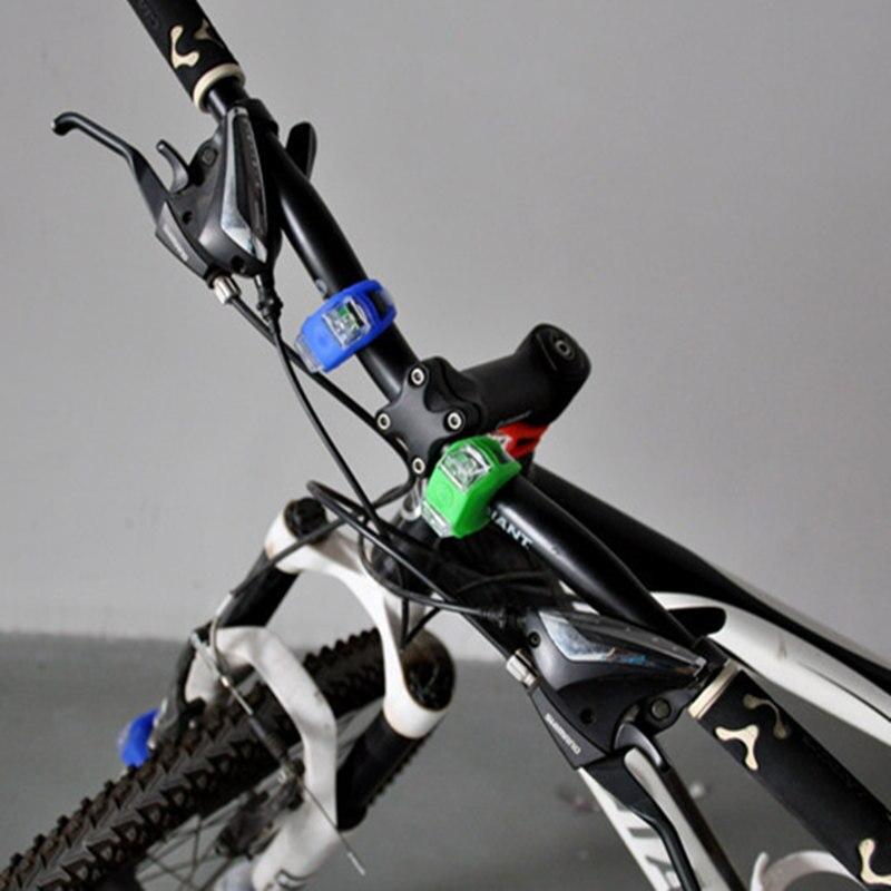 1pair Silicone Bicycle Lights Cycling LED Flash Warning Light Bike ...