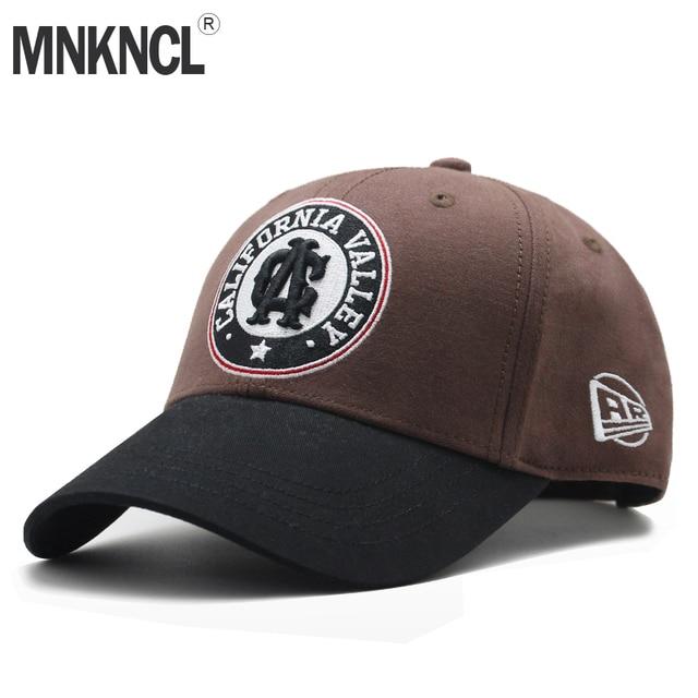 dbd1266e0f038 MNKNCL Unisex de Alta Qualidade 100% Algodão Boné de Beisebol Bordado Carta  Snapback Chapéus dos