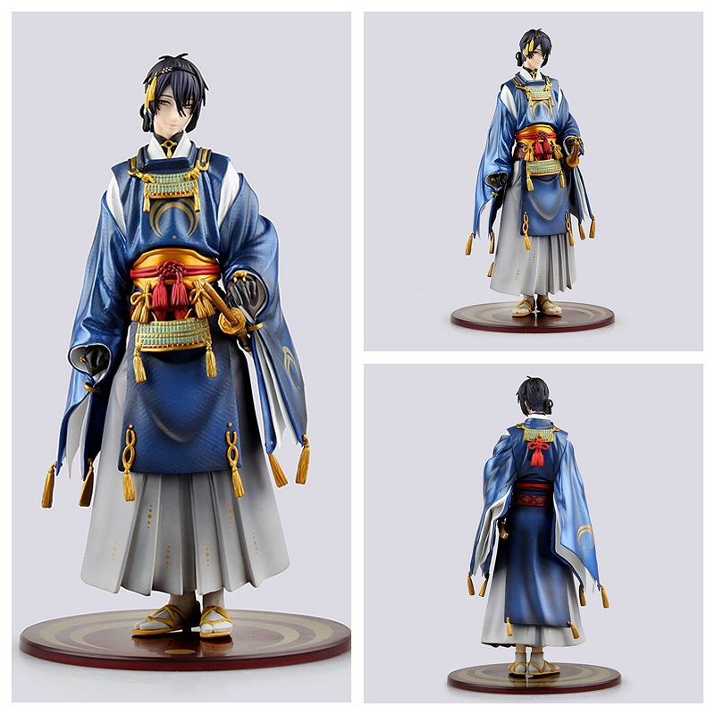 Huong Anime Figure 23 CM Touken Ranbu Online Mikazuki Munechika PVC Action Figure Collectible Model Toy touken ranbu online good smile face changable 511 mikazuki munechika nendoroid pvc action figure collectible model toy