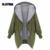 2016 Otoño Mujer Abrigo de Las Mujeres Abrigo de Manga Larga Con Cremallera Con Capucha Chaqueta de Punto Chaqueta Con Capucha Militar XL-5XL