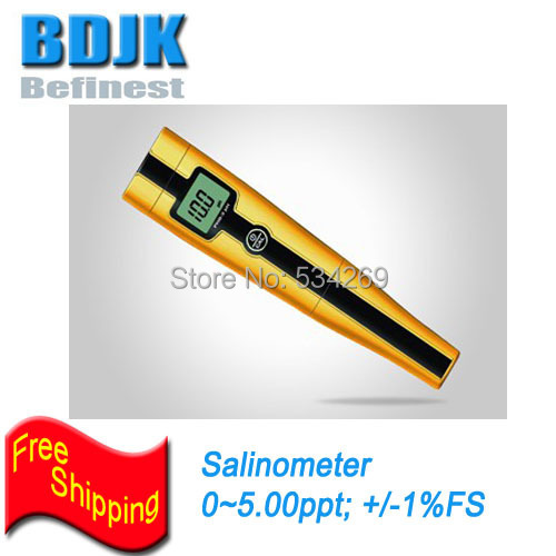 0~5.00ppt Digital Cheap Salinity Meters with Temperature Display Waterproof Concentration Meter