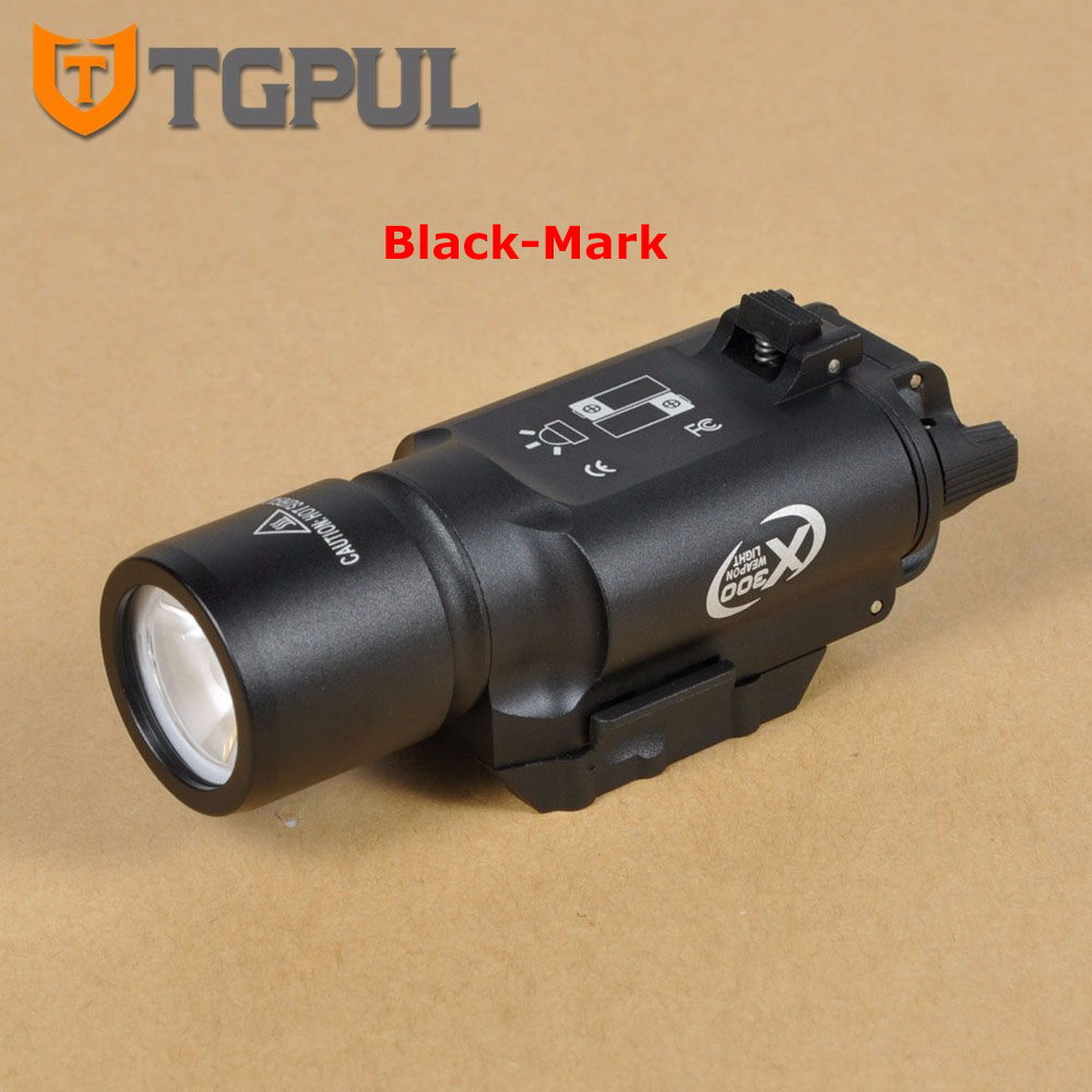 TGPUL Tactical X300 Flashlight Waterproof Weapon Light Pistol Gun Lanterna Rifle Picatinny Weaver Mount for Hunting Streamlight tgpul tactical x400 gun light led flashlight for pistol handgun laser combo light hunting scout torch for weaver picatinny rail