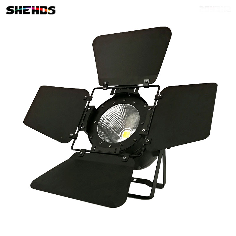 2019 Latest  LED Par COB 100W With Barn Door High Power Aluminium Case Stage Lighting With 100W COB ,cool White And Warm White