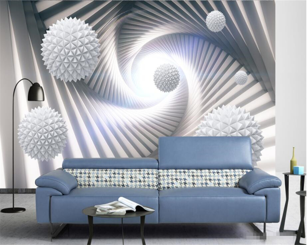 Beibehang Custom 3D Mural Wallpaper Living Room TV Backdrop Wallpaper Abstract space Polyhedral sphere 3d background wall tapety large 3d stereo personalized custom space mural bedroom living room tv sofa backdrop 3d wallpaper wall covering natural woods