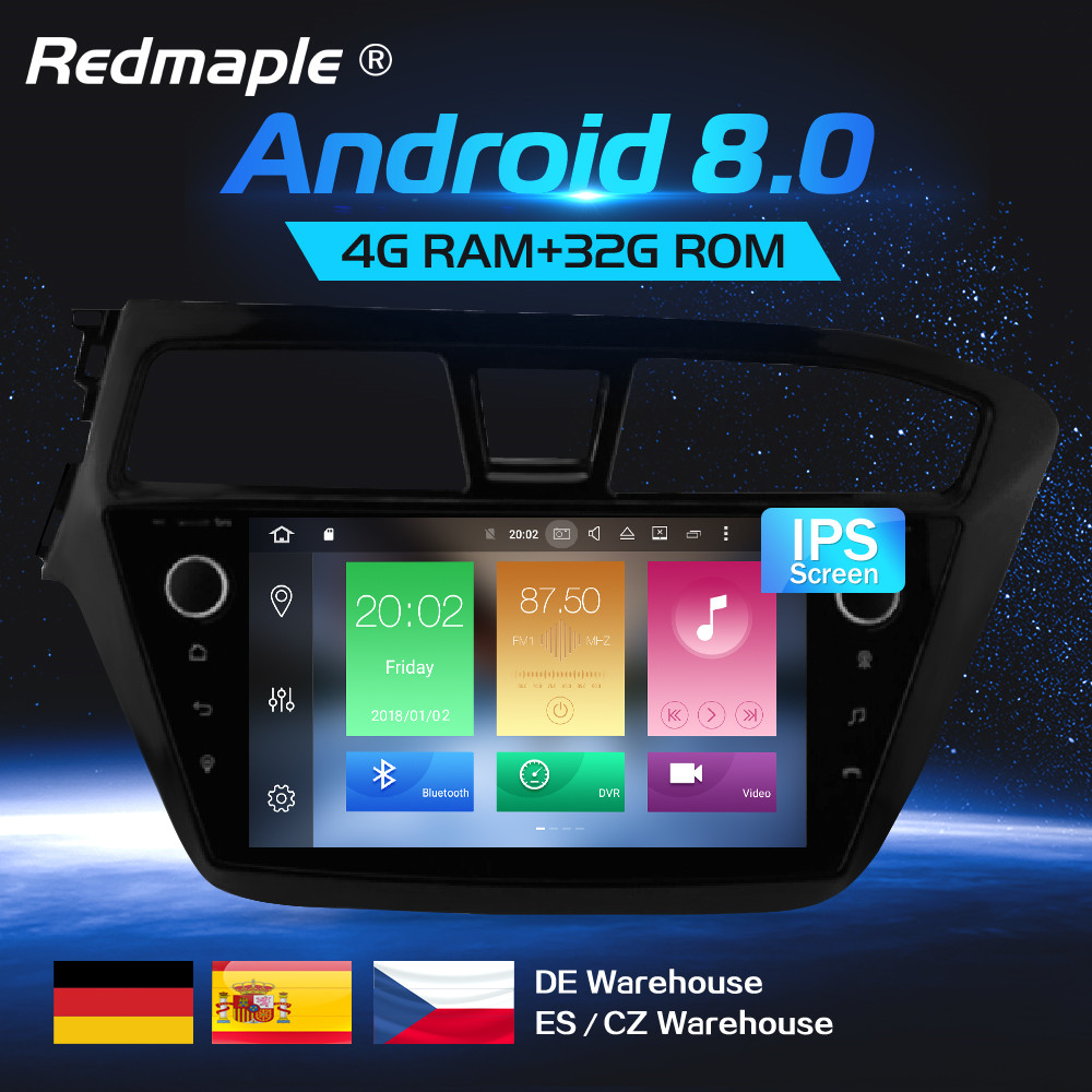 Android 8.0 lecteur dvd De Voiture navigation gps Multimédia Stéréo Pour HYUNDAI I20 2015 auto-radio Audio WIFI Bluetooth Headunit