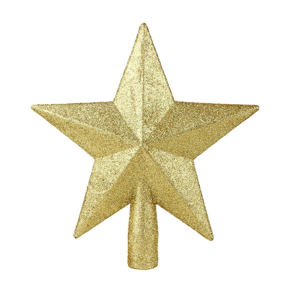 Decorador de arboles de navidad 187 home design 2017 - 1 Unid 20 Cm Oro Estrellas Superior Del Rbol De Navidad Decoraci N De La Estrella De