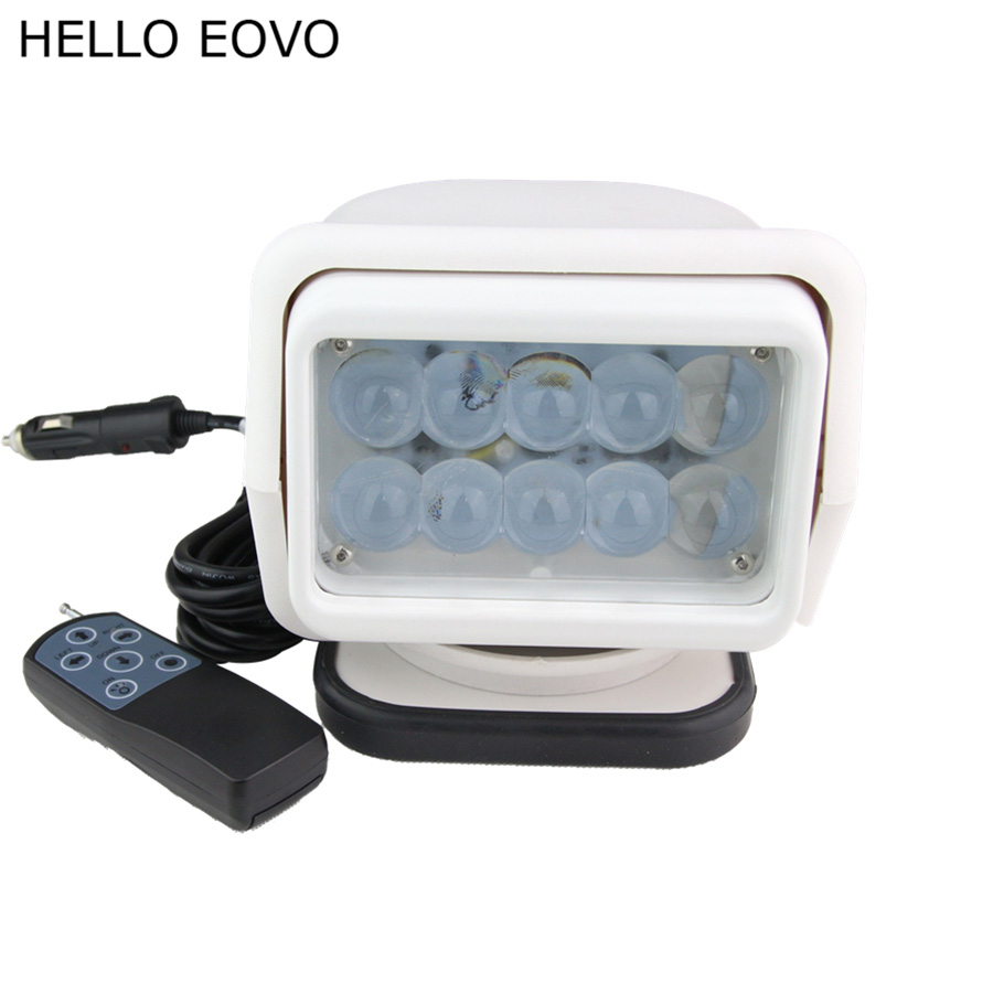 HELLO EOVO 7 Inch 50W Wireless Remote Controller LED Search Light for Work Offroad Boat Car Tractor Truck 4x4 SUV ATV Spot 12V hello eovo 5d 32 inch curved led bar led light bar for driving offroad boat car tractor truck 4x4 suv atv with switch wiring kit