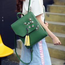 2017 новые модные брендовые женские кожаные рюкзак женский школьные сумки для модная одежда для девочек рюкзак большой пространство вышивки Bagpack Sac