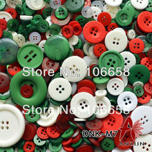 100g Mixed Button Fashion Buttons for Craft And DIY Button Christmas Colours Scrapbooking Cristmas decoration