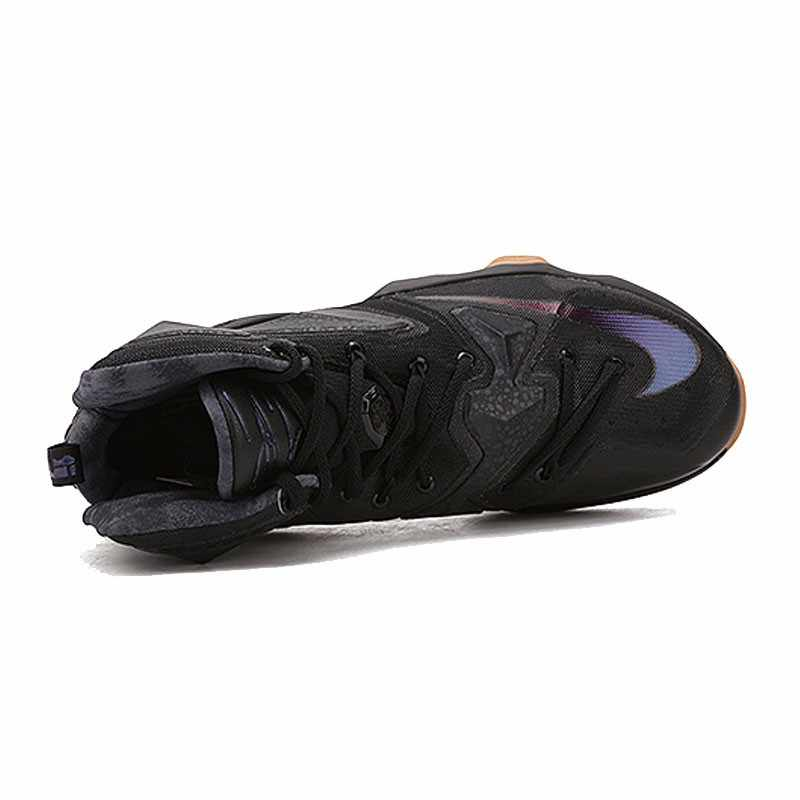 Оригинальный Nike Оригинальные кроссовки Для Мужчин's футболка с надписью LEBRON EP Линдона Джонсона 13 баскетбольные кеды обувь спортивная, Кроссовки Спортивная Дизайнерская обувь с высоким берцем Прохладный 2018 новое поступление
