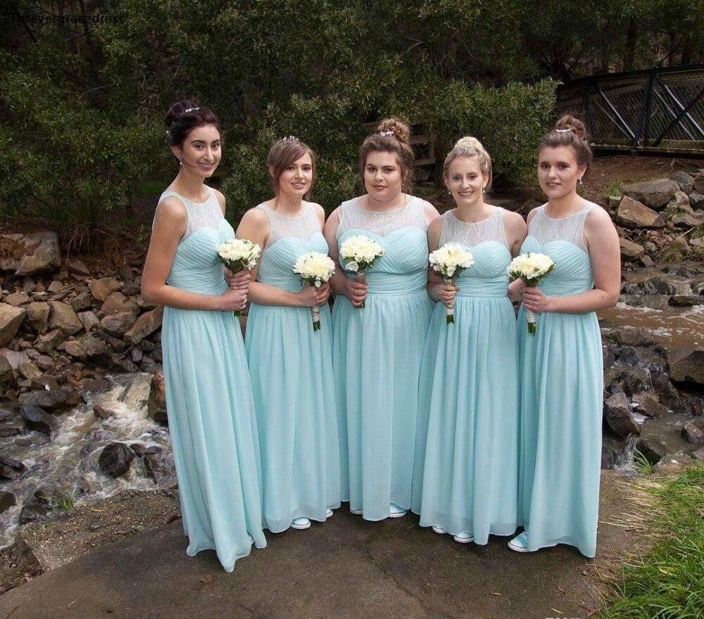 2019 vert menthe bohème robes de demoiselle d'honneur été pays jardin fête de mariage invité demoiselle d'honneur robes grande taille sur mesure