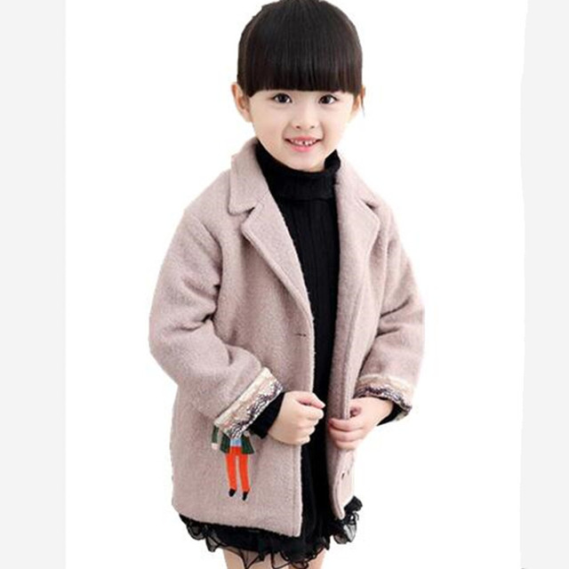 2016 fashion designer boys and girls baby children autumn and winter woolen coat children china-imported-clothes free shipping
