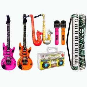 Besegad 8cps надувные гитары саксофон микрофон воздушные шары Музыкальные инструменты аксессуары для бассейна вечерние принадлежности