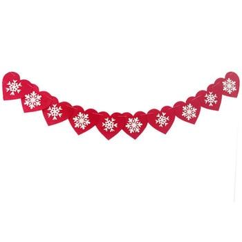 1 компл. красные рождественские снежинки сердце чувствовал гирлянды Декор Снежинка Свадьба Баннер Лыжный спорт Зимний Декор