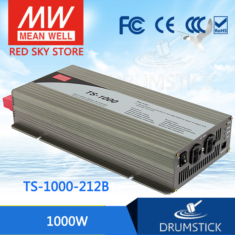 цена на hot-selling MEAN WELL TS-1000-212B EUROPE Standard 230V meanwell TS-1000 1000W True Sine Wave DC-AC Power Inverter