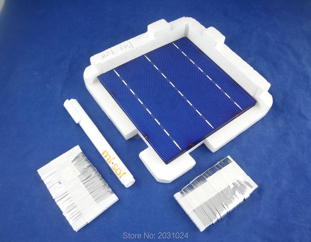 40 pcs POLY 6x6 4.3W solar cells DIY kit for solar panel, flux pen, bus tabbing 40 pcs poly 6x6 4 3w solar cells diy kit for solar panel flux pen diode bus tabbing regulator