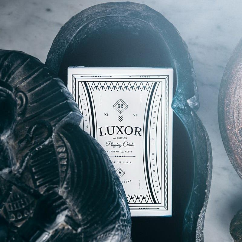1 pièces Luxor cartes à jouer Poker par gémeaux produit de nouveaux accessoires magiques scellés