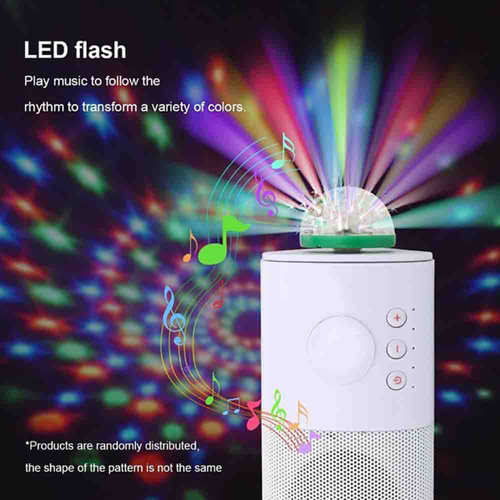 Disco Ball USB Powered Stage Light RGB Stage Decoration Projector 4-LED Rotating Mirror Disco Ball For Party Holiday For Android