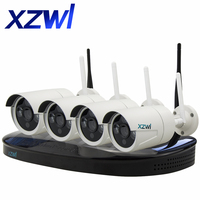 4CH 1080P HD Wireless Network IP CCTV Security Camera System Outdoor 4pcs 2 0MP Wifi IP