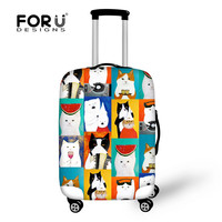 FORUDESIGNSมือวาดกระเป๋าป้องกันครอบคลุมสัตว์แมวสุนัขรถเข็นกรณีสำหรับ18-30นิ้วกระเป๋าเดินทางฝุ่นฝ...