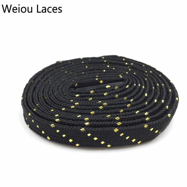 Shoe lace glitter black