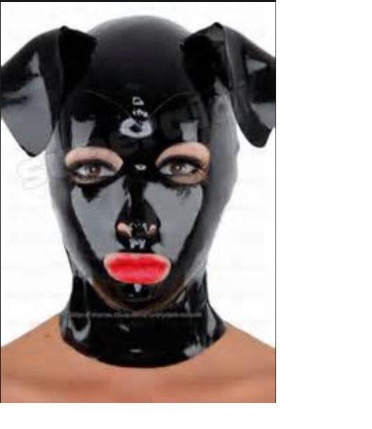 Latex neue maske hüte hood cosplay mit großen hervor flappy ohren einschließlich zurück reißverschluss-in Pudelmützen und Beanies aus Kleidungaccessoires bei AliExpress - 11.11_Doppel-11Tag der Singles 1