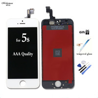 No Dead Pixel Display LCD For IPhone 6 5s Black White Touch Screen Digitizer Replacement Assembly