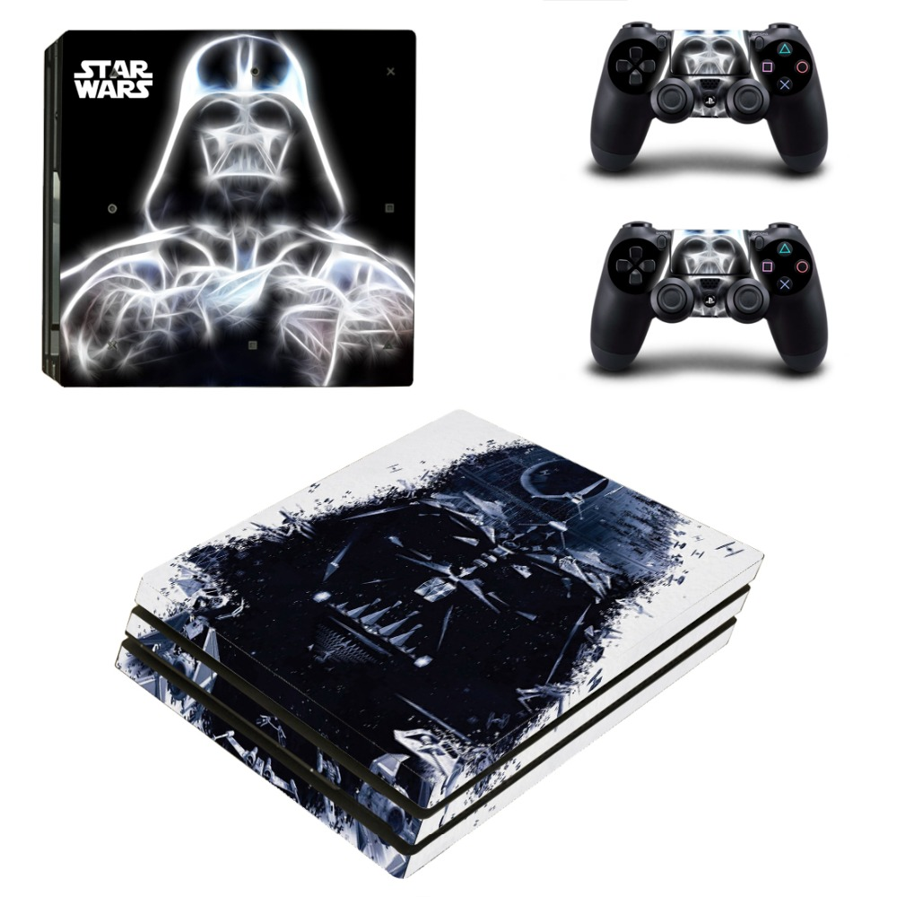 OSTSTICKER 2017 New Vinyl Skin Sticker for Sony PS4 Pro Console and Controllers Skins Decal