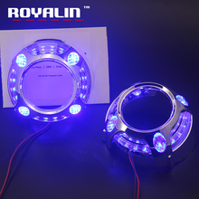 LED Angel Eye Daytime Running Lights DRL for 2.5 3.0 Bixenon HID Projector Headlights Lens Bezel Mask for Porshce Panamera Style цена
