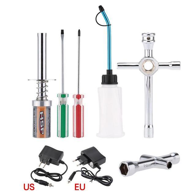 Per HSP 80141 Ricaricabile Glow Plug starter Accenditore Caricatore di CA di Accensione kit per il Gas Nitro Potenza Del Motore 1/10 1/8 RC motori di auto