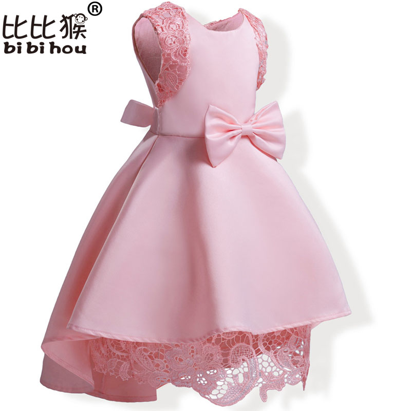 Elegant Toddler Girls Dress For Girls Party Dresses Kids Wedding baby girls dress summer Princess Ball Gown Children Clothes summer dresses for girls party dress 100% cotton summer cool and refreshing the harness green flowered dress 1 5years old
