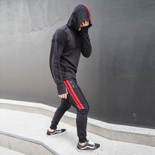 Autumn Men Sporting Suit Sportswear Hippie Patchwork Hoodie Sweatshirt+sweatpants Running Jogger Leisure Outfit Set Tracksuit