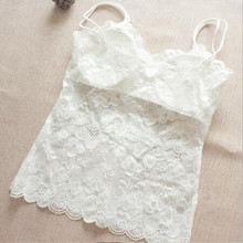 Lace Wrapped Chest Vest Underwear Crop Top RK