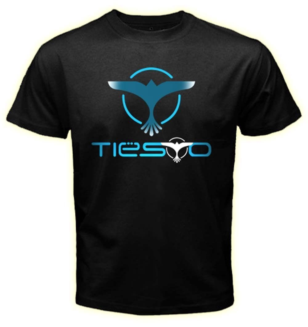 Gildan Dj Tiesto - Trance House Music Logo Mens Black Tshirt Tees Clothing