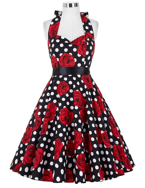 Audrey Hepburn Style Vintage Dresses Summer Plus Size Casual Party Robe Rockabilly Vestidos floral 50s Big Swing Retro Dress