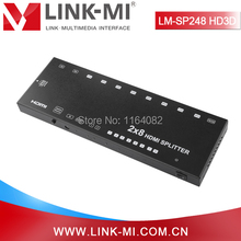 LINK-MI LM-SP248-HD3D HD 3D Video 2×8 HDMI Splitter Switcher 2 In 8 Out